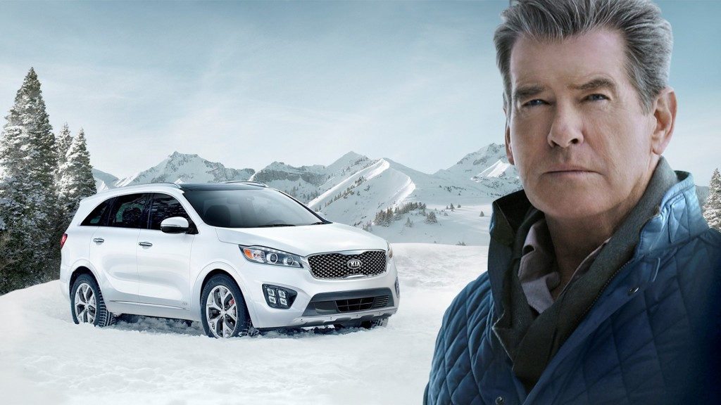 PIERCE BROSNAN MAKES THE ?PERFECT GETAWAY? IN THE ALL-NEW 2016 SORENTO DURING KIA MOTORS? SUPER BOWL COMMERCIAL - HI-RES
